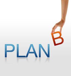 An image of Plan B written on it