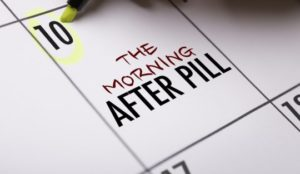 An image with The morning-after pill written on it